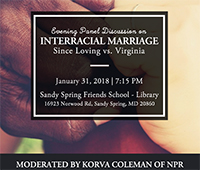 Jan. 31 Panel on Interracial Marriage