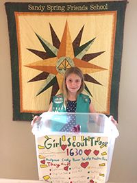 Doggie Donations for Girl Scout Troop