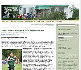 Upper School Student Blog